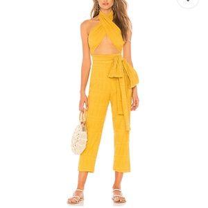 Tularosa Jamie Jumper Mustard Yellow Jumpsuit
